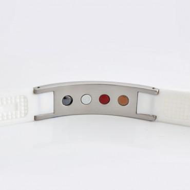 Белый турмалиновый браслет c анионами и германием