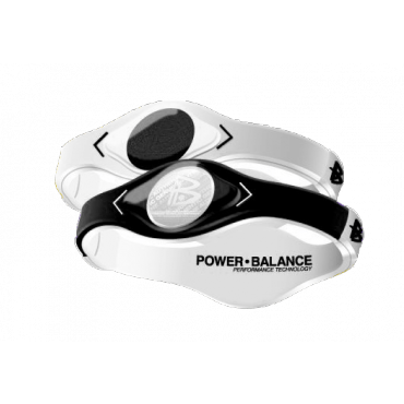 Чёрно-белый Power Balance с двухцветной голограммой