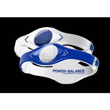 Бело-синий Power Balance с двухцветной голограммой