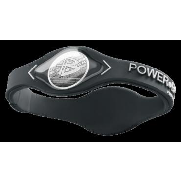 Серый Power Balance с белой надписью