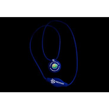 Синий силиконовый кулон Power Balance