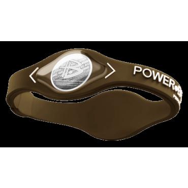 Коричневый Power Balance с белой надписью