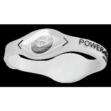 Белый Power Balance с чёрной надписью