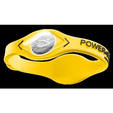 Желтый Power Balance Silver с чёрной надписью