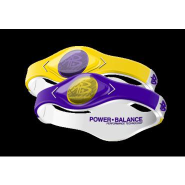 Желто-сиреневый Power Balance с двухцветной голограммой