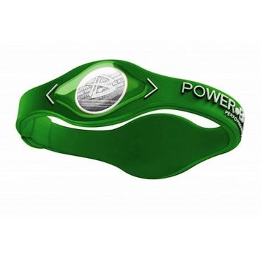 Зеленый Power Balance с белой надписью