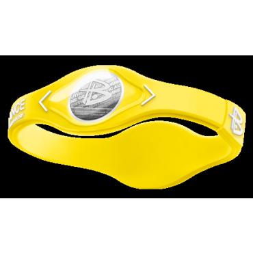 Желтый Power Balance с белой надписью