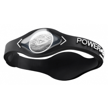 Чёрный Power Balance с белой надписью