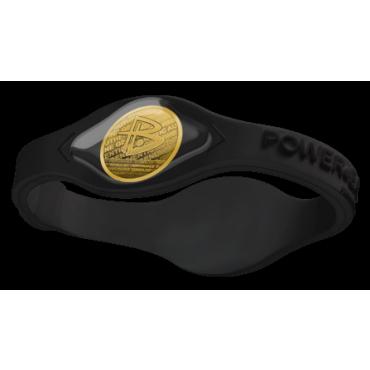 Чёрный Power Balance с золотой голограммой