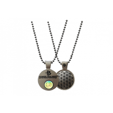 Серебристый цинковый кулон Power Balance
