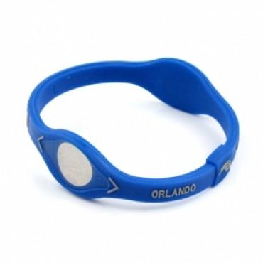 Голубой спортивный браслет Power Balance «NBA Orlando»