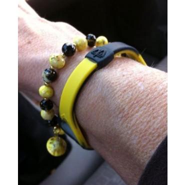 Желтый Power Balance Swirl с чёрными вихрями