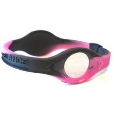 Розовый Power Balance Swirl с чёрными вихрями