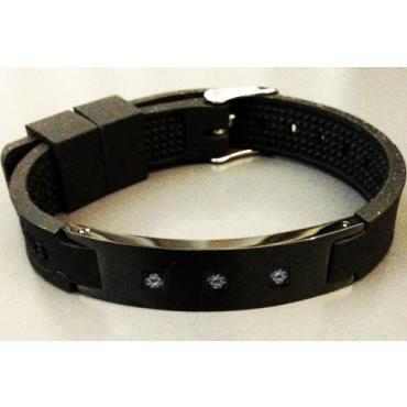 Черный турмалиновый браслет c анионами и магнитами