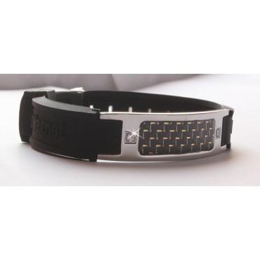 Черный турмалиновый браслет с 2 кристаллами, из титана, анионов, с магнитом и ИФ-камнем